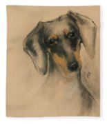 Doxie Fleece Blanket