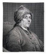 Dr Benjamin Franklin Fleece Blanket