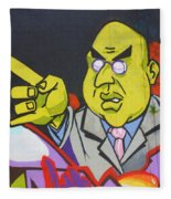 Dr Evil Fleece Blanket
