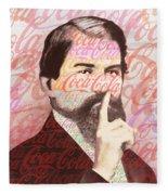 Dr. John Pemberton Inventor Of Coca-cola Fleece Blanket