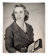 Dr Joyce Brothers 1959 Fleece Blanket