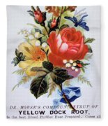 Dr Morse's Yellow Dock Root Syrup Fleece Blanket
