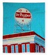 Dr Pepper Sign Roanoke Virginia Fleece Blanket