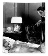 Dracula Bela Lugosi Fantasy Nude Fleece Blanket
