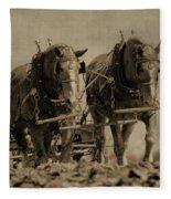 Draft Horses Fleece Blanket