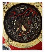 Dragon At The Senso-ji Temple Fleece Blanket