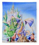 Dragon Castle Fleece Blanket