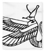 Dragon - Demon Of Ancient Egypt Fleece Blanket