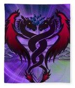 Dragon Duel Series 19 Fleece Blanket