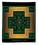 Dragon Egg Celtic Cross Fleece Blanket