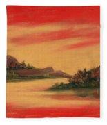 Dragon Sunset Fleece Blanket