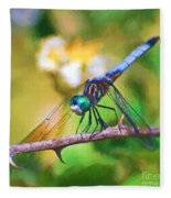 Dragonfly Art - A Thorny Situation Fleece Blanket