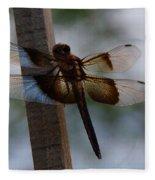 Dragonfly At Rest Fleece Blanket