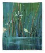 Dragonfly Diner Fleece Blanket
