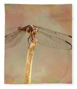 Dragonfly In Fantasy Land Fleece Blanket