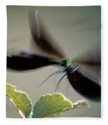 Dragonfly In Flight Fleece Blanket