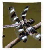 Dragonfly Twelve Spot Skimmer Fleece Blanket