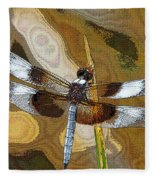Dragonfly Waiting For A Fly Fleece Blanket