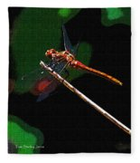Dragonfly Waits Fleece Blanket