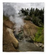 Dragon's Mouth Spring - Yellowstone Fleece Blanket