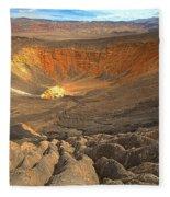 Draining Into The Crater Fleece Blanket