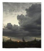 Drama In The Sky Fleece Blanket