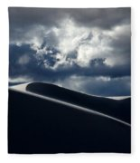Drama Of The White Sands Fleece Blanket