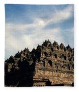 Dramatic Ancient Borobudur  Fleece Blanket