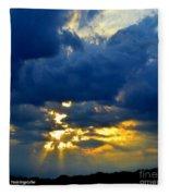 Dramatic Clouds Fleece Blanket