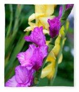 Dramatic Gladiolus Fleece Blanket