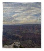 Dramatic Grand Canyon Sunset Fleece Blanket
