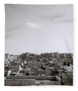 The City Of Jaisalmer Fleece Blanket