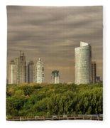 Dramatic Modern Buenos Aires Fleece Blanket