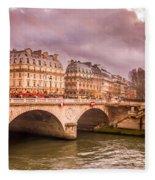 Dramatic Parisian Sky Fleece Blanket