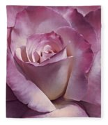 Dramatic Plum Rose Flower Fleece Blanket