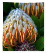 Dramatic Protea Flower Fleece Blanket