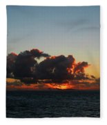 Dramatic Sea Sky At Dawn Fleece Blanket