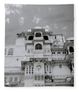 Dramatic Udaipur Fleece Blanket