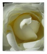 Dramatic White Rose 2 Fleece Blanket