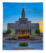 Draper Temple 1 Fleece Blanket