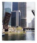 Draw Bridges Of Chicago Fleece Blanket