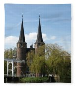 Drawbridge - Delft - Netherlands Fleece Blanket