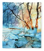 Drawn To The Sun Fleece Blanket