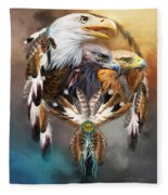 Dream Catcher - Three Eagles Fleece Blanket