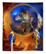 Dream Catcher - Wolf Dreams Fleece Blanket