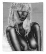 Dream In Black And White Fleece Blanket