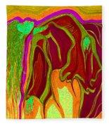 Dream In Color 2 Fleece Blanket