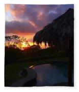 Dream Sunset In Costa Rica Fleece Blanket