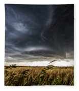Dreamcatcher - Scenic Storm Over Kansas Plains Fleece Blanket
