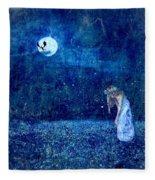 Dreaming In Blue Fleece Blanket